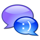 Chat, Comment, speak, talk, online chat LightSteelBlue icon