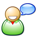 speak, talk, profile, Emotion, people, smile, Account, Fun, Human, Comment, forum, Chat, happy, user, Language, Emoticon, funny, Edu Black icon