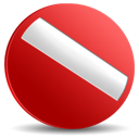 stop, no, cancel Firebrick icon