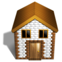 homepage, house, Home, Building SaddleBrown icon