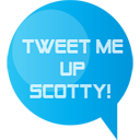 Social, Scotty, tweetscotty, Sn, social network, twitter DeepSkyBlue icon