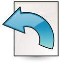 File, document, Revert, paper Linen icon