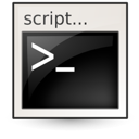 Shellscript, Application Black icon