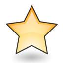 Emblem, Favourite, bookmark, star, new Black icon