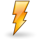 power, session, climate, lightning, weather, Reboot, Gnome Black icon