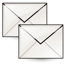 Copy, Letter, mail, Duplicate, Message, stock, envelop, Email WhiteSmoke icon