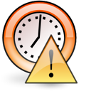 Alarm, stock Black icon