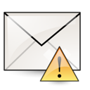 Email, mail, Message, mark, envelop, important, Letter WhiteSmoke icon