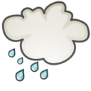 weather, Shower, scattered, climate Black icon
