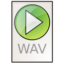 Audio, Wav Black icon