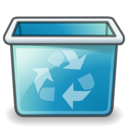 Emptytrash LightSeaGreen icon