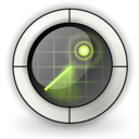 Find, locate, seek, search, Filefind, radar Black icon