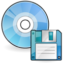 disc, Disk, save SkyBlue icon