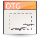 template, Oasis, open document, graphics, Application Linen icon