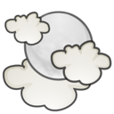 weather, night, climate, few, Cloud, stock Black icon