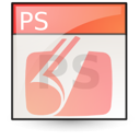 Application, Postscript LightSalmon icon