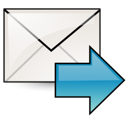 envelop, stock, Email, Letter, mail, Message, Fwd, Gnome Black icon