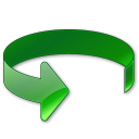 rotate, Anticlockwise, green Black icon