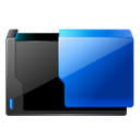 Floder, open Black icon