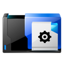 File, Dos, document, paper, Ms, Batch Black icon