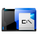 Dos, Ms, Application Black icon