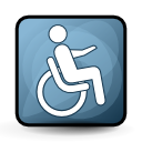wheelchair, Access CadetBlue icon