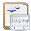 calculation, Calc, calculator WhiteSmoke icon