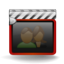 movie, video, film DarkSlateGray icon