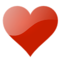 valentine, love Firebrick icon