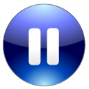 player, Pause MidnightBlue icon