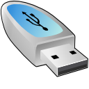 usb pendrive, unmount Silver icon