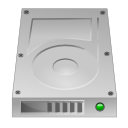 Hdd, unmount, hard disk, hard drive Silver icon