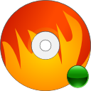 mount, disc, Cdwriter, fire, Disk, Burn, save OrangeRed icon