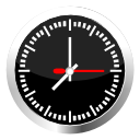 Clock, time, Alarm, alarm clock, history Black icon