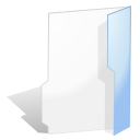 open, Folder Snow icon