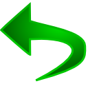 Reset, Undo, return Green icon