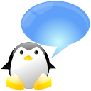 Xchat, Chat, talk, tux, speak, Penguin, Comment CornflowerBlue icon