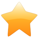 star, Favourite, bookmark Orange icon