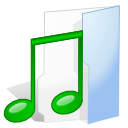 music, Folder Lavender icon