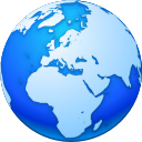 globe, internet, pack, network, earth, planet, world, package DodgerBlue icon