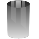 Blank, trash can, Empty DarkGray icon