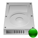 Hdd, hard disk, hard drive, mount Silver icon