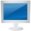 Computer, monitor, screen, Display SteelBlue icon