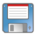 Floppy, save, unmount SteelBlue icon