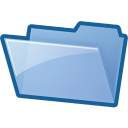 folderempty, Folder, Blue SkyBlue icon