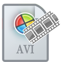 Movietypeavi Gainsboro icon