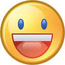 yahoo, Fun, Emoticon, smile, funny, smiley, Face, happy, Emotion Khaki icon