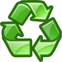 Trash, recycle, reuse, recycle bin Green icon