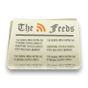 News, Rss, File, paper, subscribe, document, feed Silver icon