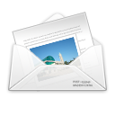 Letter, envelope, Email, newsletter, envelop, mail, Message WhiteSmoke icon